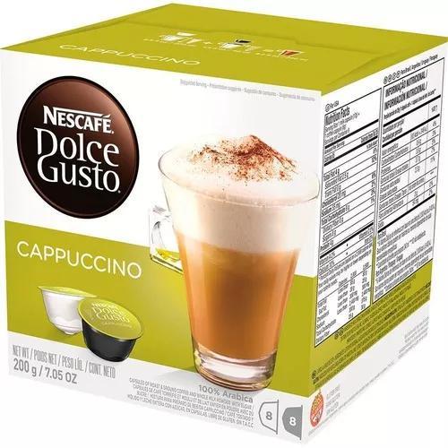 Kit 6 Caixas Nescafé Dolce Gusto Café Cappuccino 96