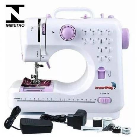 Máquina De Costura Multifuncional Portátil 12 Pontos