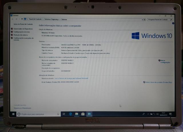 Notebook usado Dell inspiron  com tela 14 polegadas