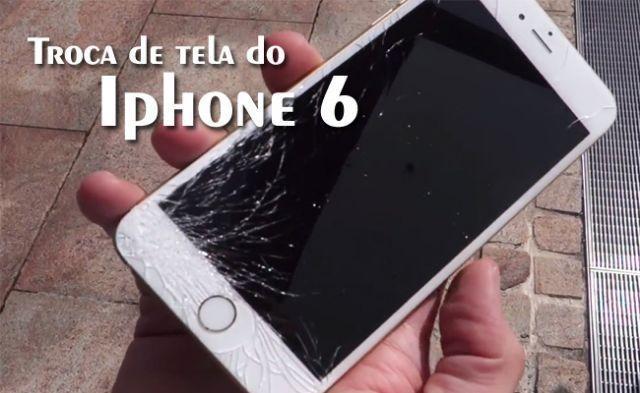 Tela de iphone 5, 6 e 7 colocada a partir de R$ , somos