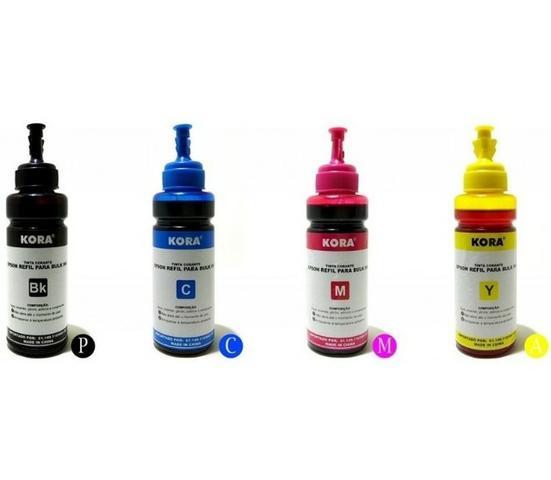 Tinta Epson ecotank kit 4 cores