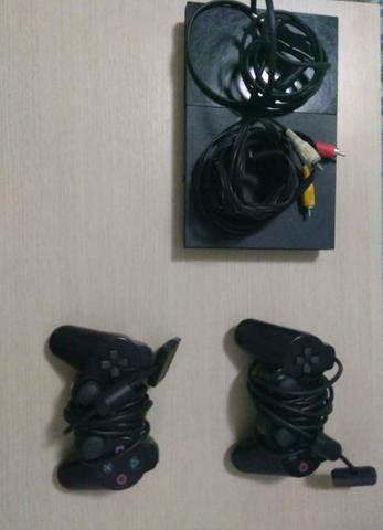Playstation 2 C/ Todos Os Cabos, 2 Controles E Persona 3 Fes