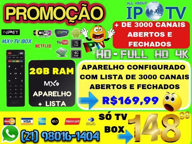 TV Box MX9 4K 7.1.2 Quad-Core 2Gb RAM Transforme Sua TV Em
