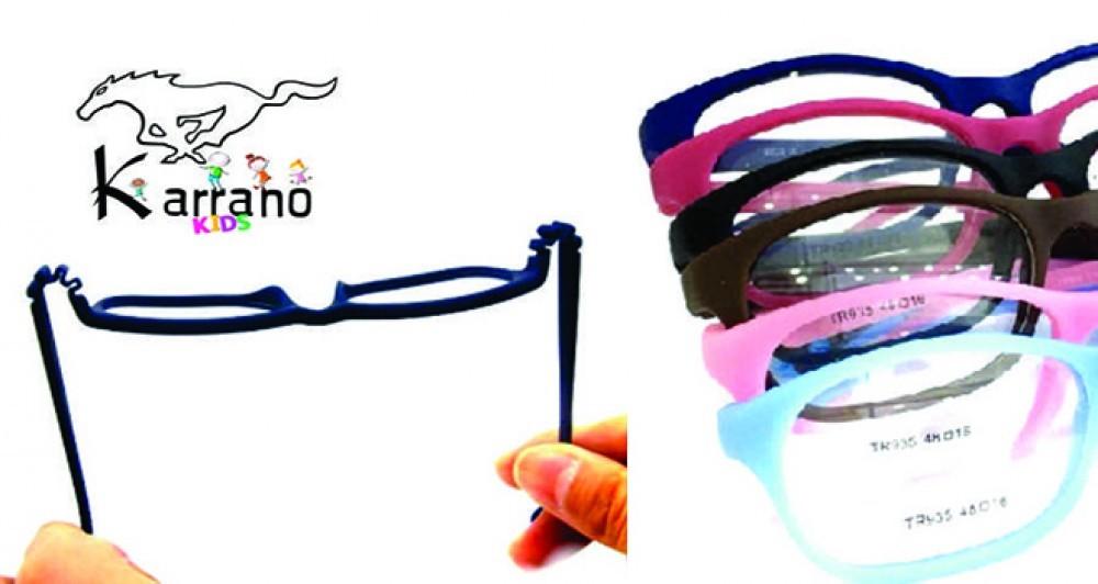 Karrano kidis armação, óculos de grau infantil flexível