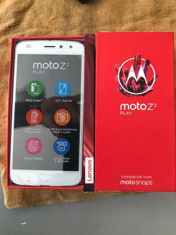 Moto Z2 Play 64gb completo de Tudo e NF