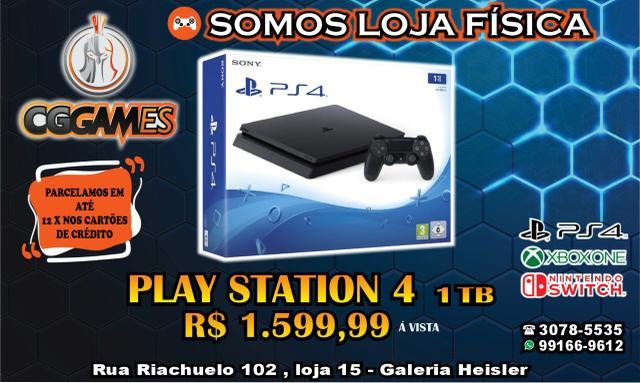 PlayStation 4 1Terabyte Novo lacrado com garantia de 1ano,