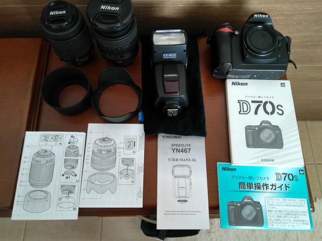 Torro câmera Nikon d70s mais duas lentes originais nikon