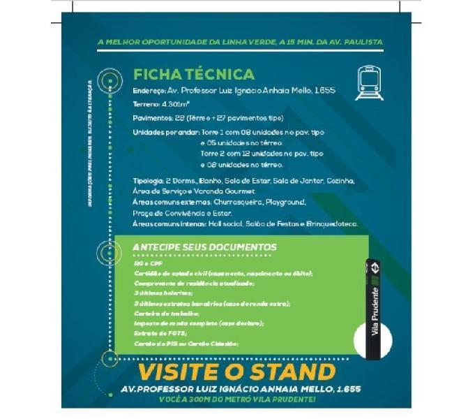 Breve Lançamento na Vila Prudente a 300 mts do Metrô -