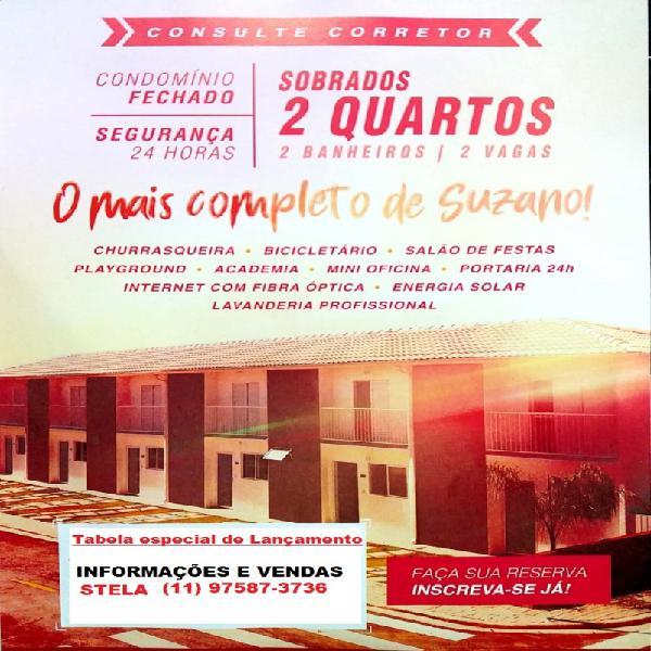 Casas de 2 dormitórios em Condomínio Fechado Suzano