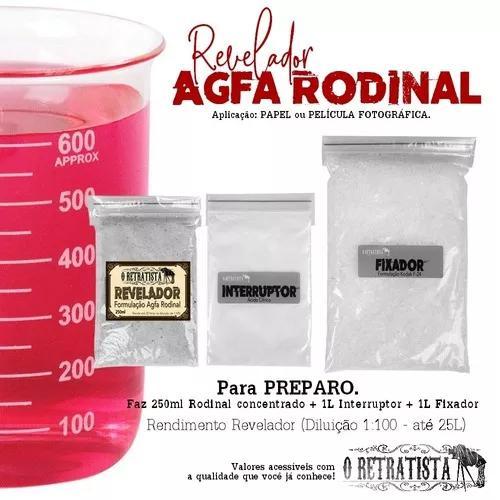 Kit Revelação Agfa Rodinal Papel/filme Fot. P&b - P/