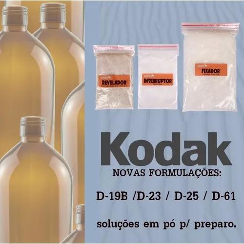 Reveladores Kodak D19-b, D23, D25, D61 - Kit 1l (