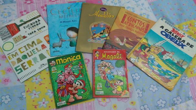 7 livros infantis. Todos por 5 reais