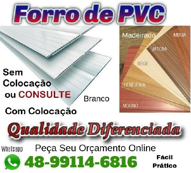 Forro PVC Com ou Sem Colocação Gde Florianópolis