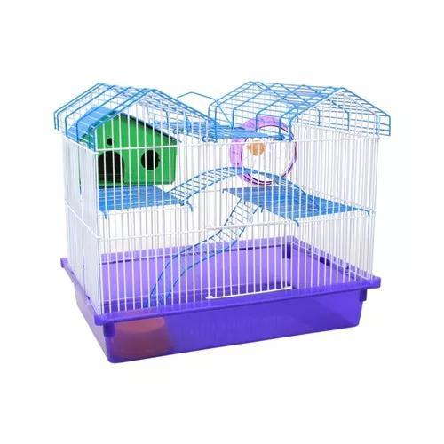 Gaiola Hamster 2 Andares Luxo Tubos Labirinto