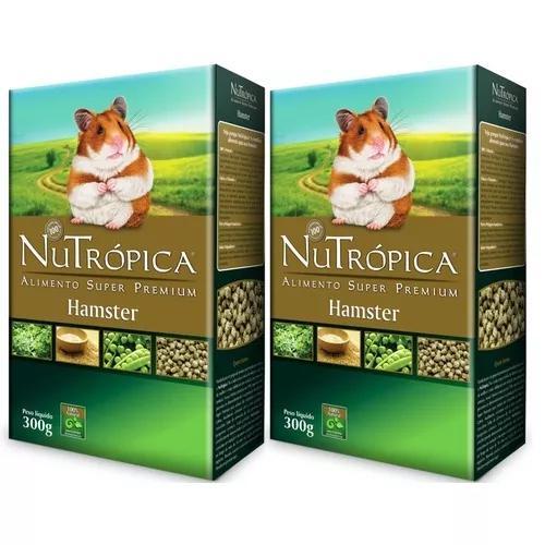 Kit C/ 2 Nutrópica Hamster Ração Super Pr