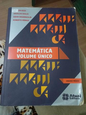 Livro de Matemática para Ensino médio, volume único