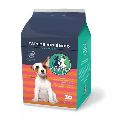 Tapete Higiênico Para Cães C/ 30 Unidades 80x60cm Pr