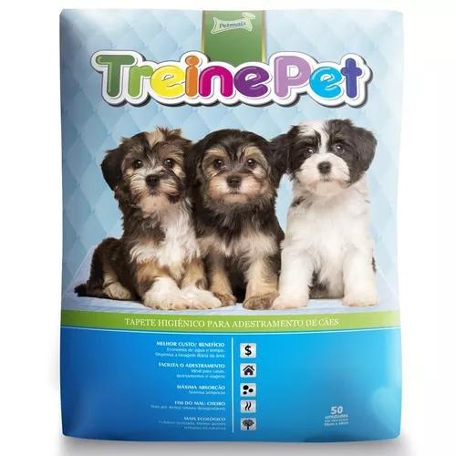 Tapete Higiênico Petmais Treinepet Para Cães - 50 Unidades