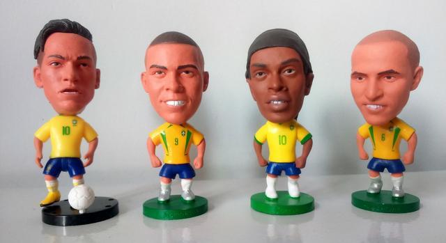 Coleção De Mini Craques Da Seleção Brasileira