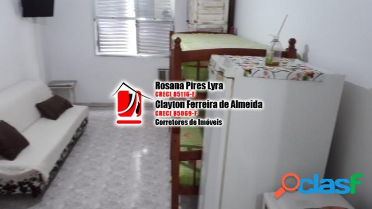 Sala living mobiliada, 1 vaga, Ponta da Praia,Santos