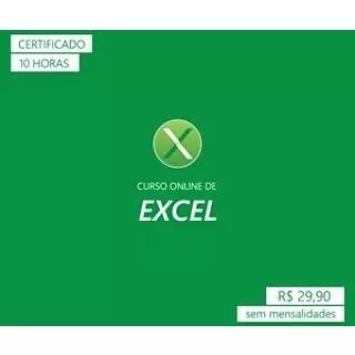 Curso De Excel Online. Link Na Descrição