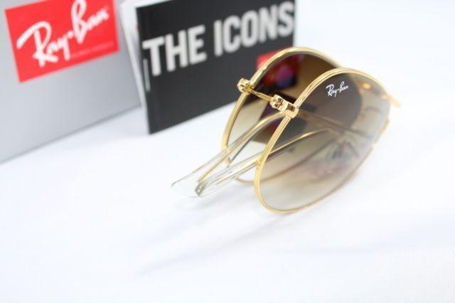 Óculos de sol aviador dobrável ray ban