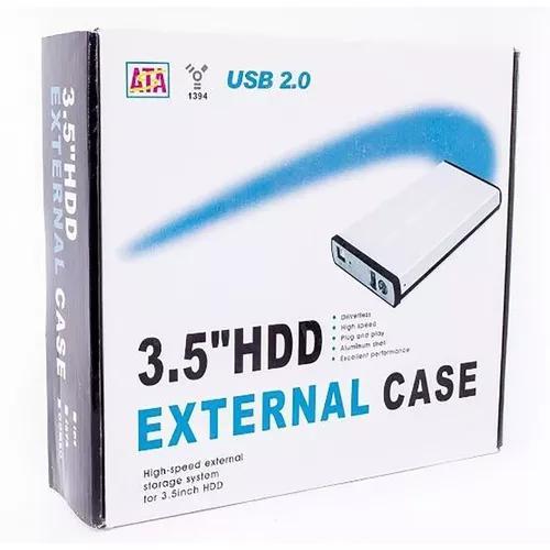 Case Gaveta Externa Hd 3.5 Sata Hd Notebook Pc 3.5 Usb 2.0