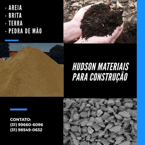 Materiais para Construção - Areia - Brita - Terra - Pedra
