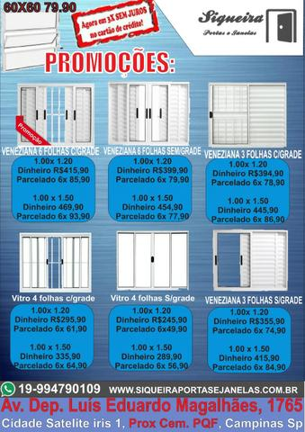 Super Promoções - Portas e Janelas de alumínio branco