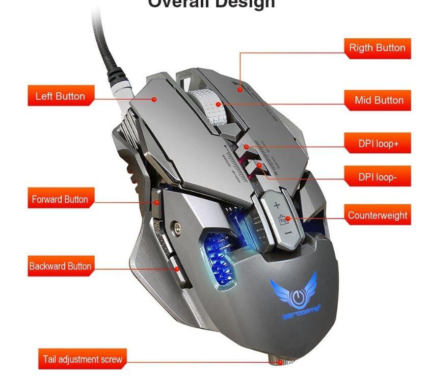 Mouse Gamer Zerodate modelo x300gy
