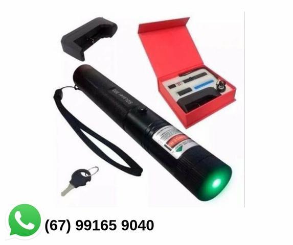 Super Caneta Laser Pointer Verde Longo Alcance 16 Km