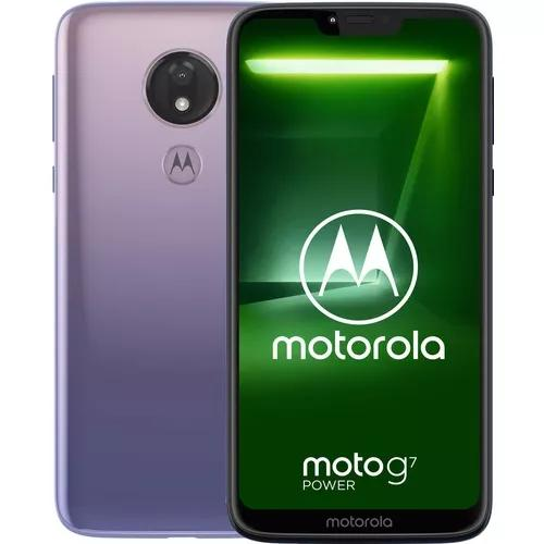 Celular Motorola Moto G7 Power 64gb Violeta Ram 4g +brinde