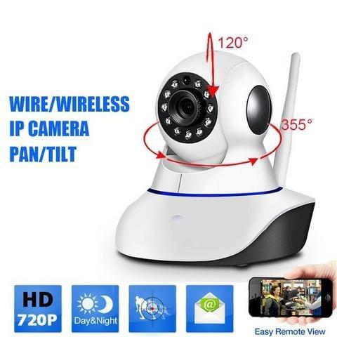 Kit 4 Câmeras Ip Wifi Giro 360 Graus Com Sensor de