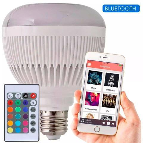 Lâmpada Led Music Bluetooth Rgb 12w Controle Remoto Top