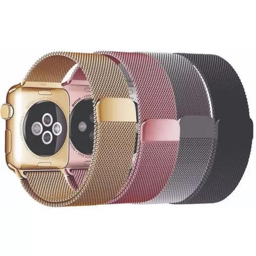 Pulseira Milanese Aço Apple Watch 38 40 42 44mm Magnetico