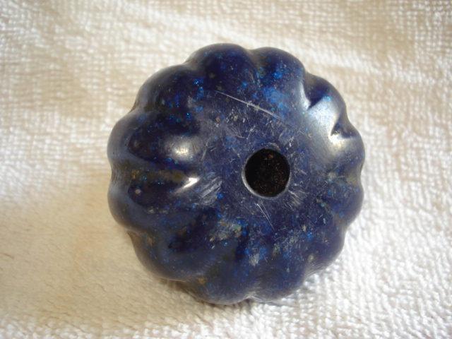 Puxador maçaneta antigo acrílico azul