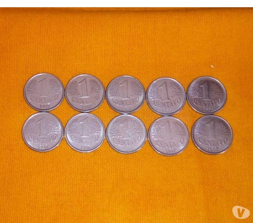 Lote de 10 Moedas de 1 Centavo dos anos  - Soberbas