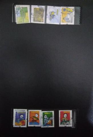 Coleção de selos + pasta