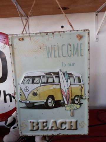 Placas de Kombi decoração vintage