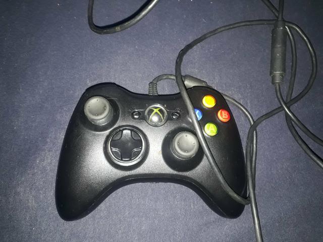 Controle com fio xbox 360 original
