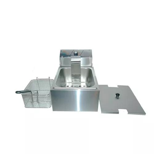 Fritadeira Elétrica Profissional Nova Inox 1 Cuba 5,5