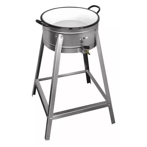 Fritador Fogão Pasteleiro Inox A Gás Com Tacho Nº14