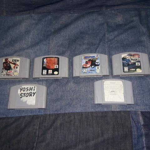 Jogos de Nintendo64 pra sair hoje! 6 fitas por R$