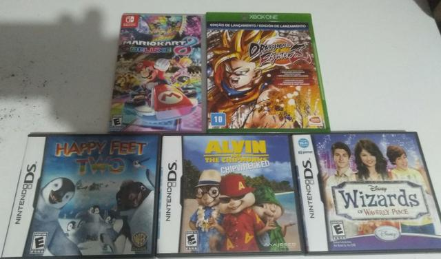 Lote de jogos (Nintendo Switch, Nintendo DS e Xbox One)