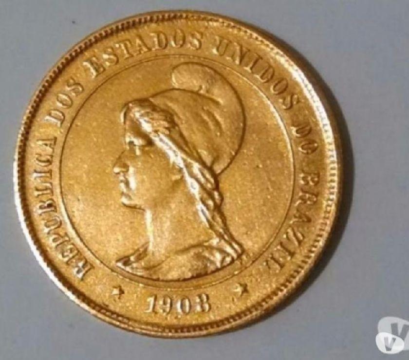 Vendo moedas de ouro do Brasil em lotes ou unidades