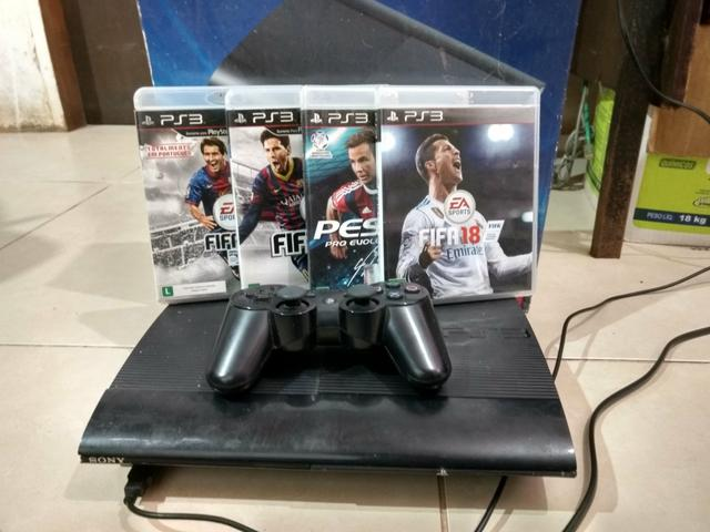 Vendo ou Troco PS3 Super Slim