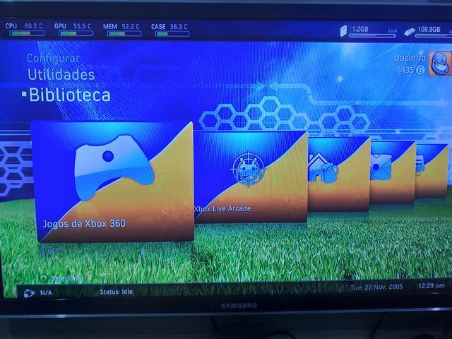 Xbox DTVD NO HD Com 57 jogos.
