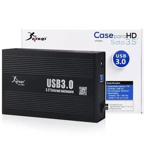 Case Para Hd Sata 3,5 Externo Usb 3.0 Desktop Aluminio