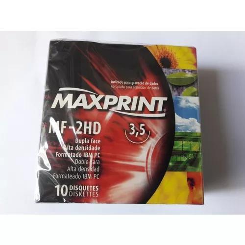 Disquete 1,44 Mb Maxprint Caixa Com 10 Unidades