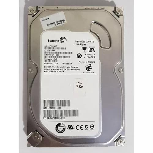 Hd 250gb Seagate Barracuda 7200.12 Sata Desktop Interno